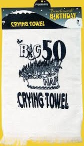 50th crying towel