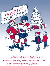 Coach on Santa's knee